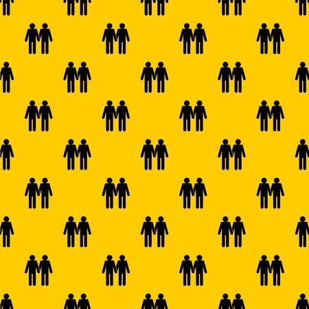 Two men gay pattern seamless vector repeat geometric yellow for any design Ilustração