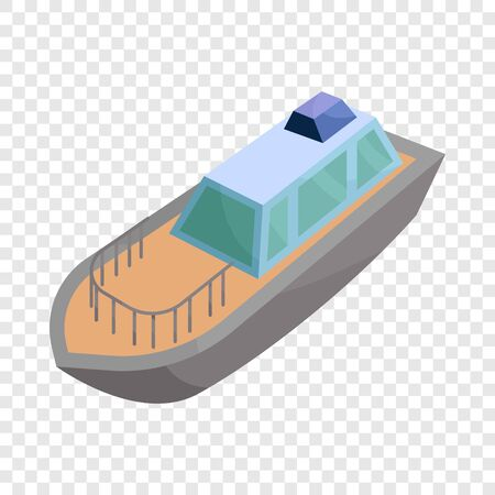 Powerboat icon. Cartoon illustration of powerboat vector icon for web