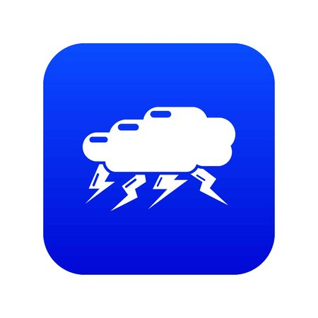 Thunder cloud icon. Simple illustration of thunder cloud vector icon for web