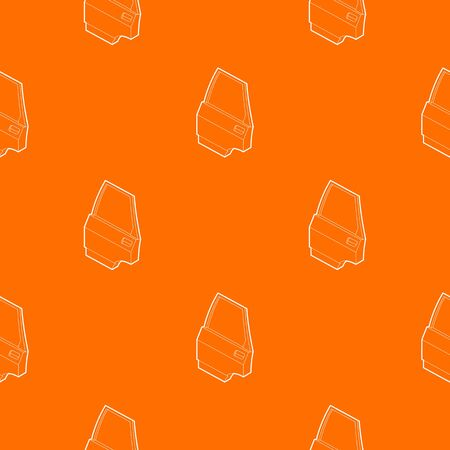 Car door pattern vector orange Illustration