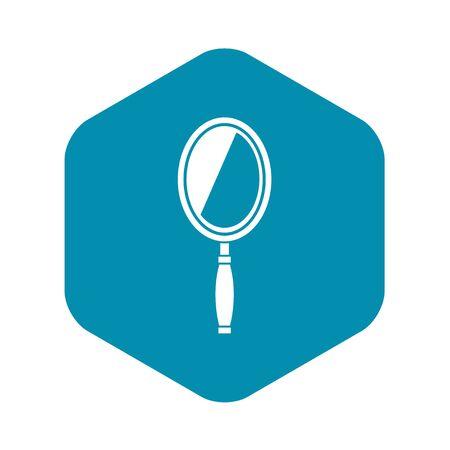 Mirror icon. Simple illustration of mirror vector icon for web
