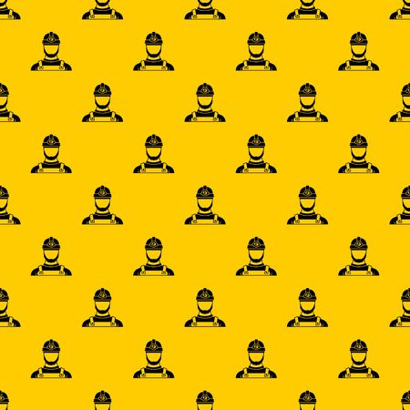 Male miner pattern vector Illustration