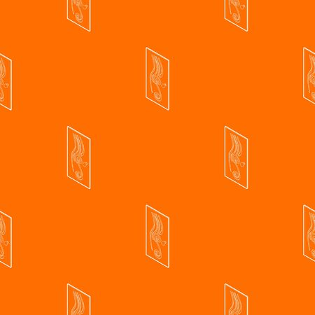 Decorated door pattern vector orange for any web design best