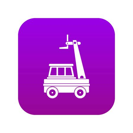 Cherry picker icon digital purple for any design isolated on white vector illustration