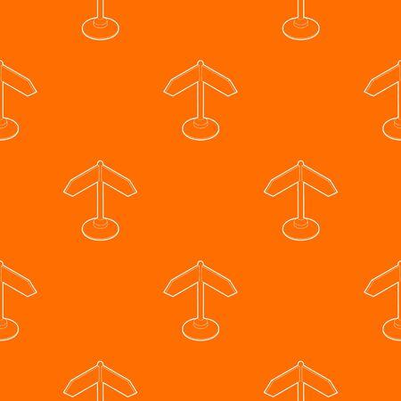 Direction sign pattern vector orange for any web design best