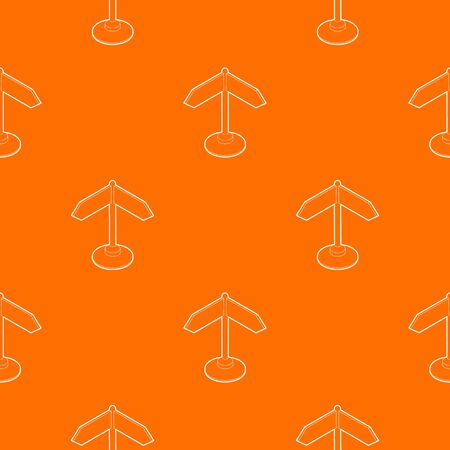 Direction sign pattern vector orange for any web design best