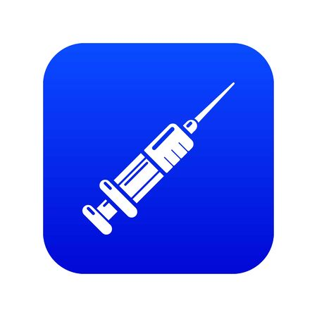 Syringe icon. Simple illustration of syringe vector icon for web Ilustração