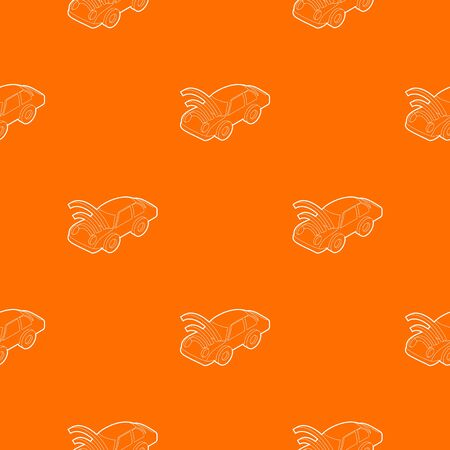 Car with wifi sign pattern vector orange