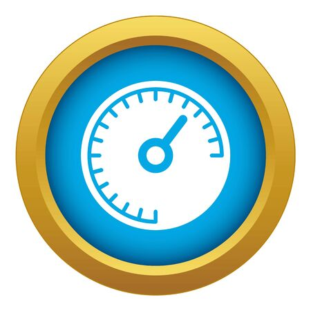 Speedometer icon blue vector isolated on white background for any design Stock Illustratie