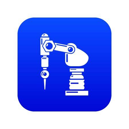 Drilling machine icon. Simple illustration of drilling machine vector icon for web. Çizim