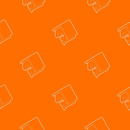 Location of the house pattern vector orange for any web design best