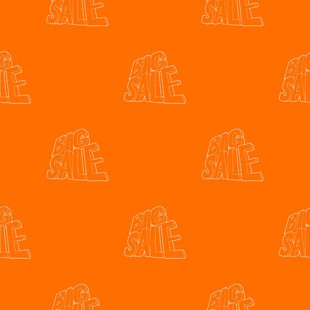 Big sale lettering pattern vector orange for any web design best