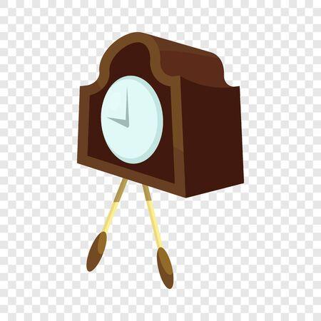 Retro wall clock icon. Cartoon illustration of retro wall clock vector icon for web