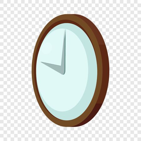 Round wall clock icon. Cartoon illustration of round wall clock vector icon for web 向量圖像