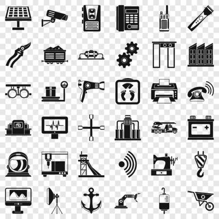Anchor icons set, simple style Banque d'images - 127220940
