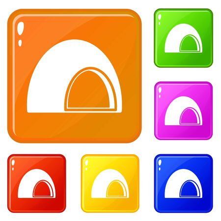 Souffle icons set vector color Çizim