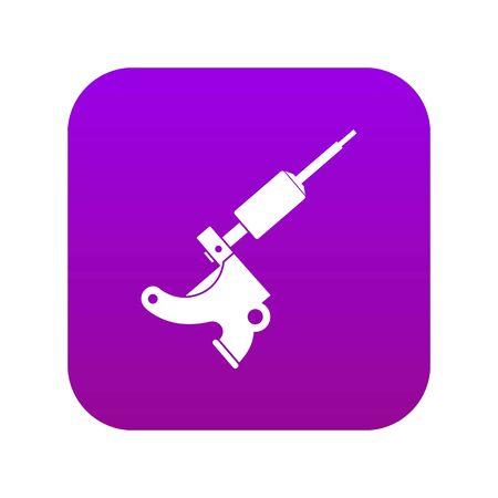 Coil tattoo machine icon digital purple