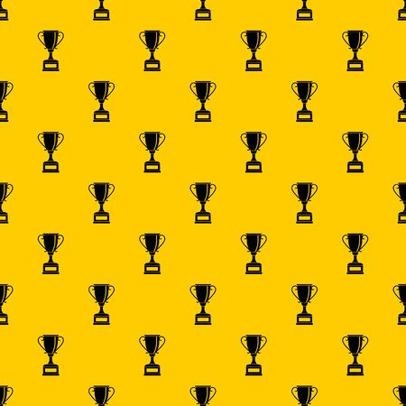 Winning gold cup pattern seamless vector repeat geometric yellow for any design