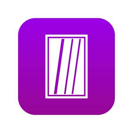 White rectangle window icon digital purple