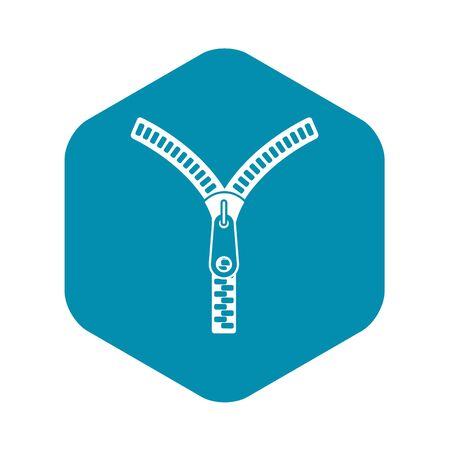 Zipper with lock icon. Simple illustration of zipper with lock vector icon for web Ilustrace
