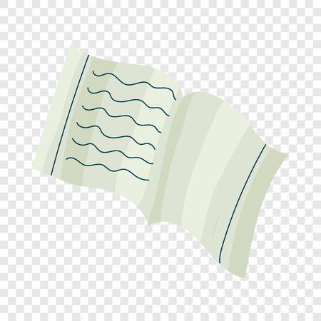 School notebook icon in cartoon style isolated on background for any web design