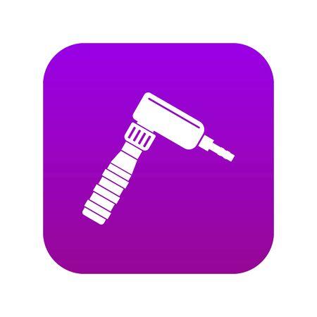 Hand draw rotary tattoo machine icon digital purple
