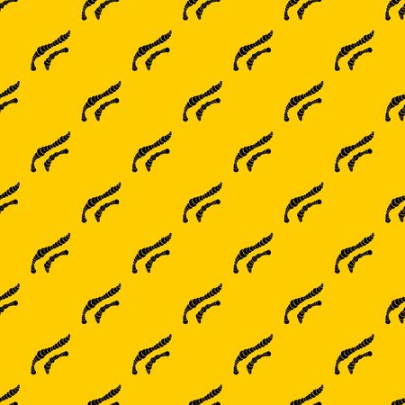 Spiral bacteria pattern seamless vector repeat geometric yellow for any design Ilustración de vector