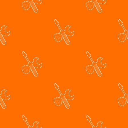 Bolt driver pattern vector orange