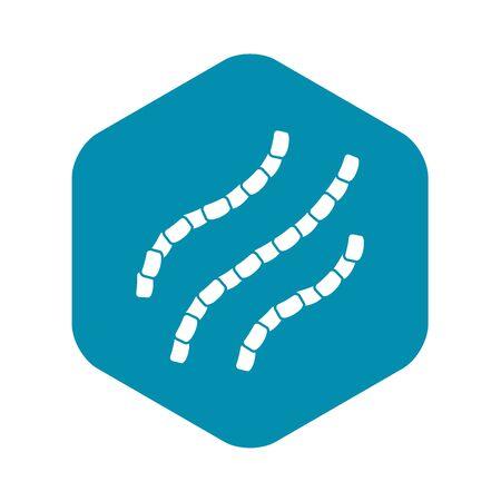 Escherichia coli icon. Simple illustration of escherichia coli vector icon for web Illustration