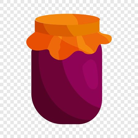 Jam icon in cartoon style isolated on background for any web design