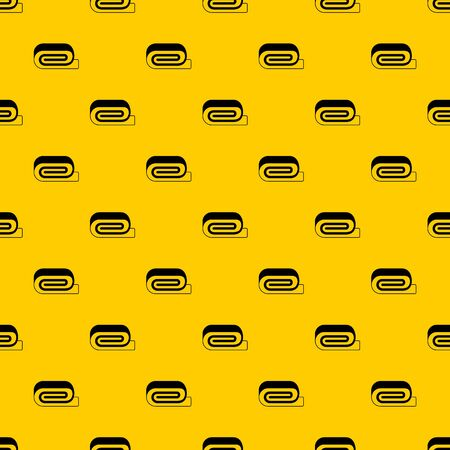 Spa towel pattern seamless vector repeat geometric yellow for any design