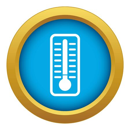 Cold thermometer icon blue vector isolated on white background for any design