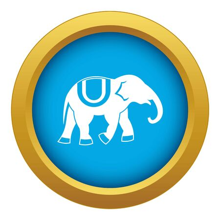 Elephant icon blue vector isolated on white background for any design