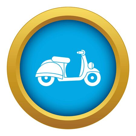 Motorbike icon blue vector isolated on white background for any design