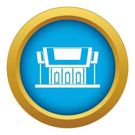 Thailand Temple icon blue vector isolated