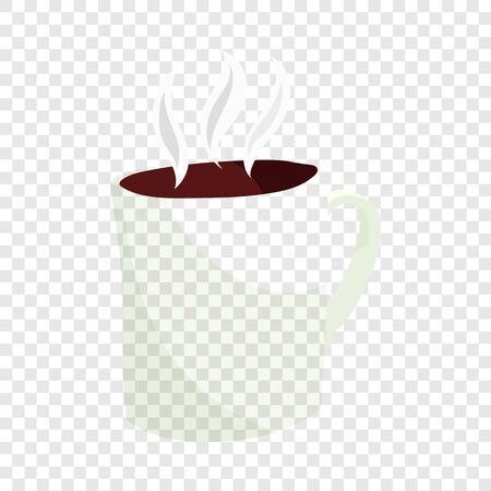 Hot coffee mug icon in cartoon style isolated on background for any web design