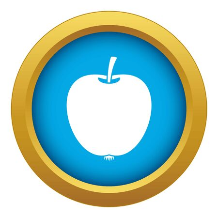 Apple icon blue vector isolated