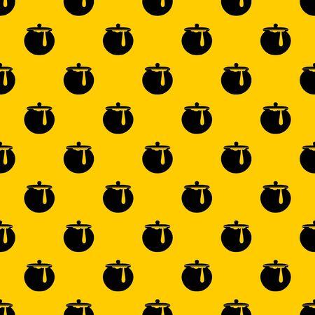 Honey pot pattern vector Illustration