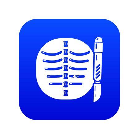 Xray of rib icon, simple style. Illustration