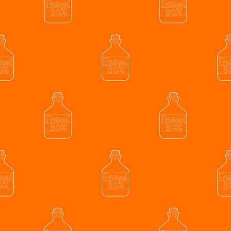 Ethanol in bottle pattern vector orange for any web design best