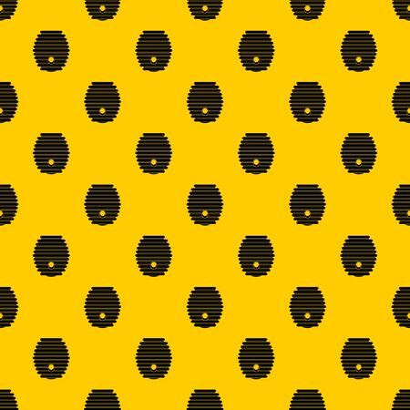 Beehive pattern seamless vector repeat geometric yellow for any design