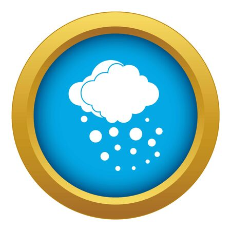 Cloud with hail icon blue vector isolated on white background for any design