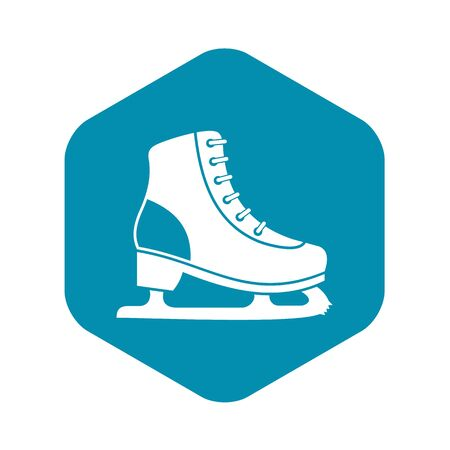 Ice skate icon, simple style Çizim