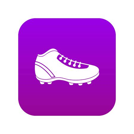 Baseball cleat icon digital purple for any design isolated on white vector illustration