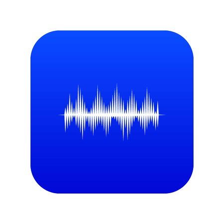 Audio digital equalizer technology icon digital blue for any design isolated on white illustration