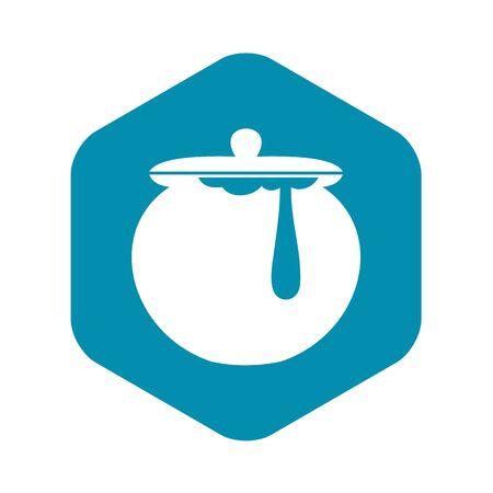 Honey pot icon, simple style Illustration