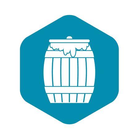 Honey keg icon, simple style