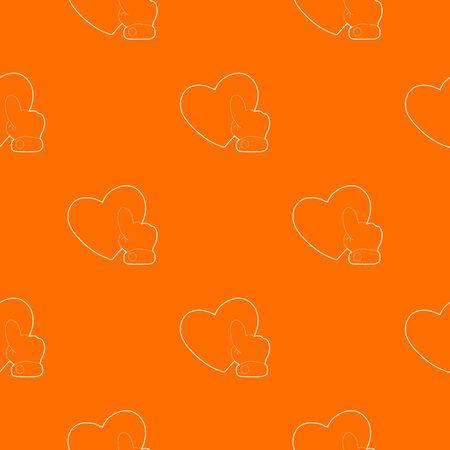 Heart touch pattern vector orange Banco de Imagens - 127607106