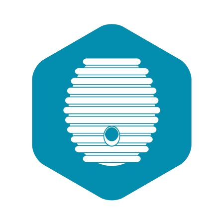 Beehive icon, simple style