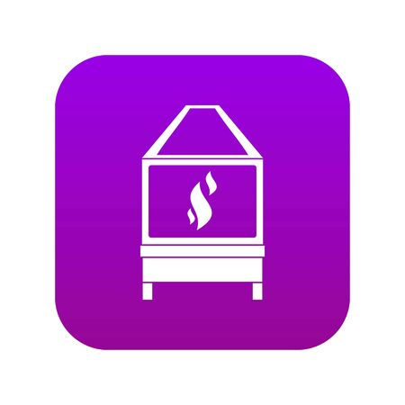 Blacksmith oven with flame fire icon digital purple for any design isolated on white vector illustration Stock Vector - 130252220